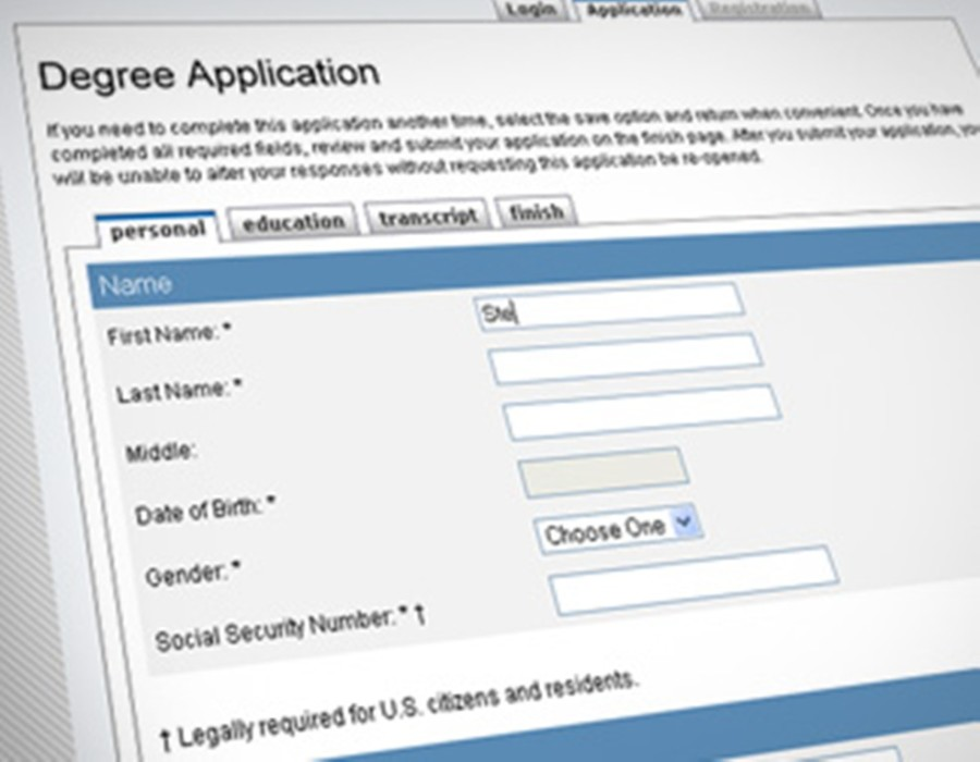 Online college application